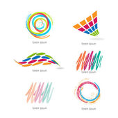 Set with different shapes and colors — Stock Vector