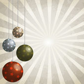 Christmas balls decorated, 3d effect — Stock Vector