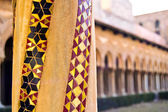 Cloister of the Cathedral of Monreale — Stock Photo
