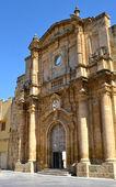 Chiesa senza tetto nel centro storico di mazara del vallo — Foto Stock