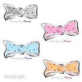 Graphic design - colored bow with pois — Vector de stock