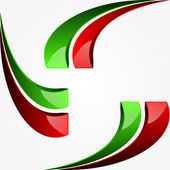 Graphic design with Italian flag — Stock Vector