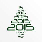 新年快乐 2015 — 图库矢量图片