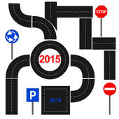 A route with new 2015 — Vetorial Stock