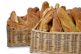 Composition with bread basket — Stock Photo