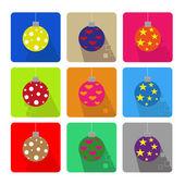 Christmas icons set — Vecteur