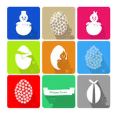 Icons Set of Easter — Stock Vector