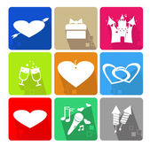 Icons set for Valentine s Day — Stock Vector
