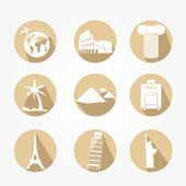 Icons Set touring — Stock Vector