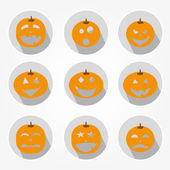 Icons Set of Halloween — Stock Vector