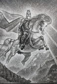 The image of St. George the victor — Stock Photo