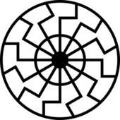 Black sun — Stock Vector