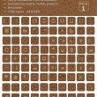Stock Vector: Wood Texture Icons