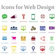 Stock Vector: SEO Icons for Web Design