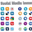 3D Social Media Icons 2 — Vettoriali Stock