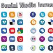 3D ikony mediów społecznych 2 — Wektor stockowy
