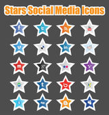 Stars Social Media Icons 1 — Stock Vector
