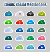 Clouds Social Media Icons 2 — Stock Vector