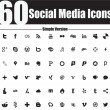 60 Social MediIcons Simple Version — Stock Vector #22336089