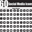60 Social Media Icons Square Version - Image vectorielle