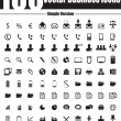 Stock Vector: 100 Vector Business Icons - Simple Version
