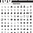 100 Vector Business Icons - Simple Version — Stock vektor