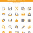 Business Icons v1 (Orange Series) — Stockvectorbeeld