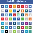 Social Media Icons (Metro Style) - Stockvektor