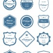 12 Classic Vintage Badges (Blue) - Stock Vector