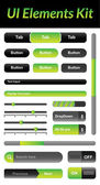 UI Elements Kit 1 (Green) — Stock Vector