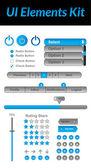 UI Elements Kit 2 (Blue) — Stock Vector