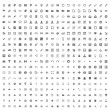440 Vector Icons (Dark Set) — Stock Vector #25616829