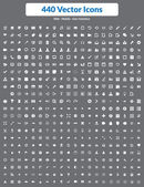 440 Vector Icons (White Set) — Stock Vector