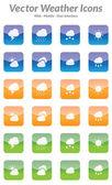 Vettoriale icone meteo — Vettoriale Stock