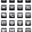 Mobile and Web Icons (Black Set) — Stock Vector