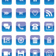 Mobile and Web Icons (Blue Set) — Stock Vector