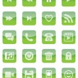 Mobile and Web Icons (Green Set) — Stock Vector