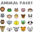 Animal Faces — Stock Vector
