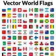 Флаги мира вектор — Cтоковый вектор #27457435