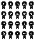 Vintage Social Media Ribbons — Stock Vector