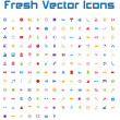 Fresh Vector Icons (simple version) — Stock Vector