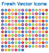 Fresh Vector Icons (circle version II ) — Stock Vector