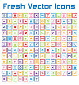 Fresh Vector Icons (square version) — Stock Vector