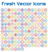 Fresh Vector Icons (circle version) — Stock Vector