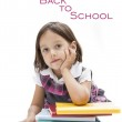 Cute girl waiting to begin the school — Stock Photo