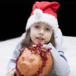 Christmas concept with piggy bank — Stock Photo