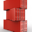 Stacked shipping container — Stock Photo #8318608
