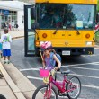 Kids Biking to School — Stock Photo