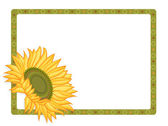 Country sunflower border — Stock Vector