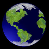 Growing Green Globe — Stock Photo